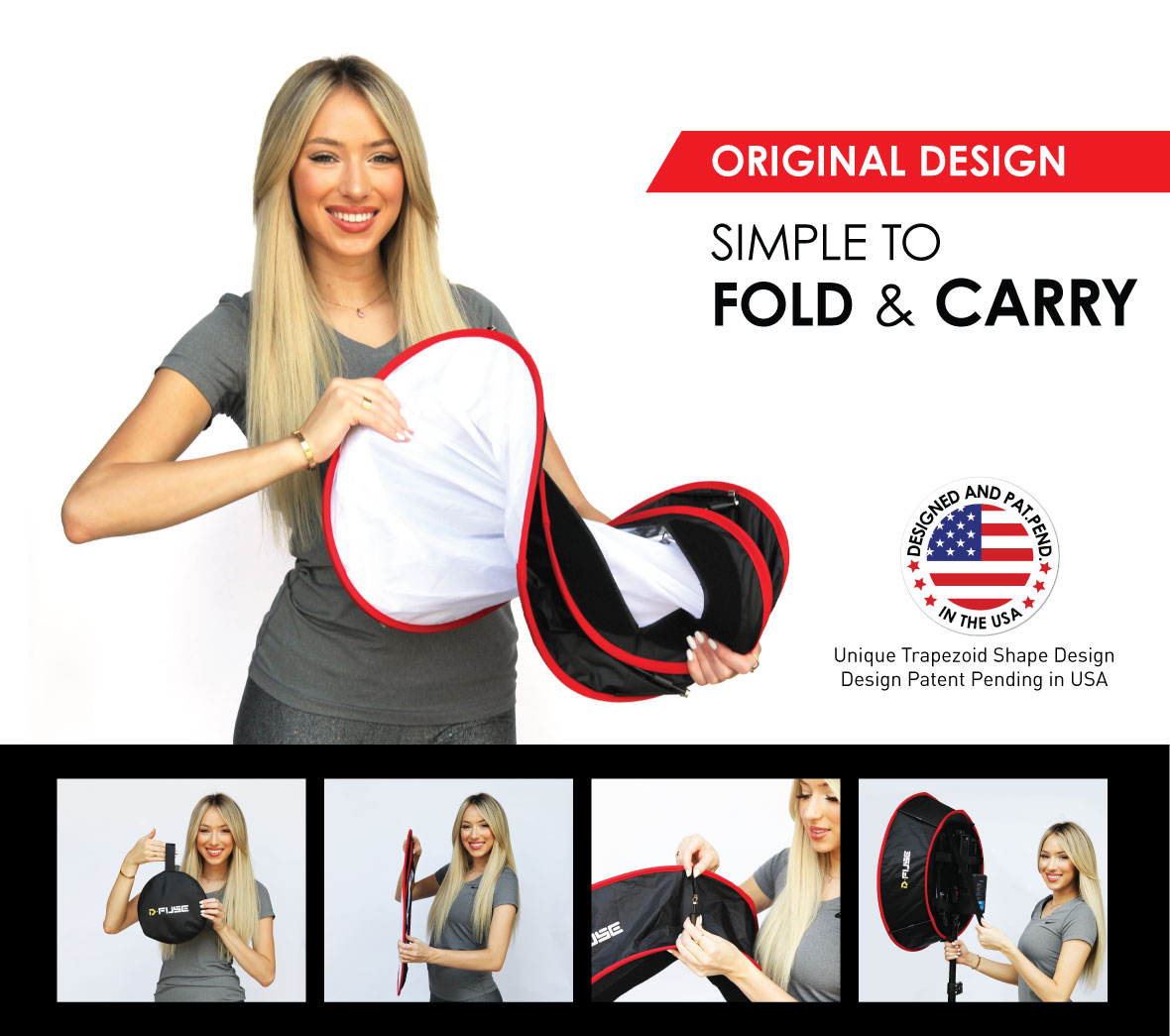 Foldable Studio Photography Camera Video Portable Softbox Grid D-Fuse Circle Trapezoid Softbox Grid LED Light Panel Softbox