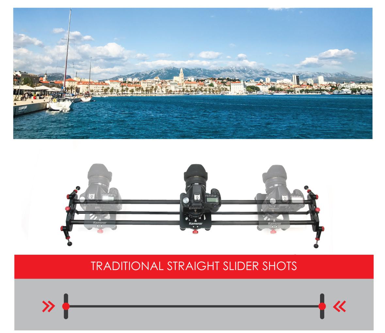 Kamerar PAN-100 Track Rail Slider