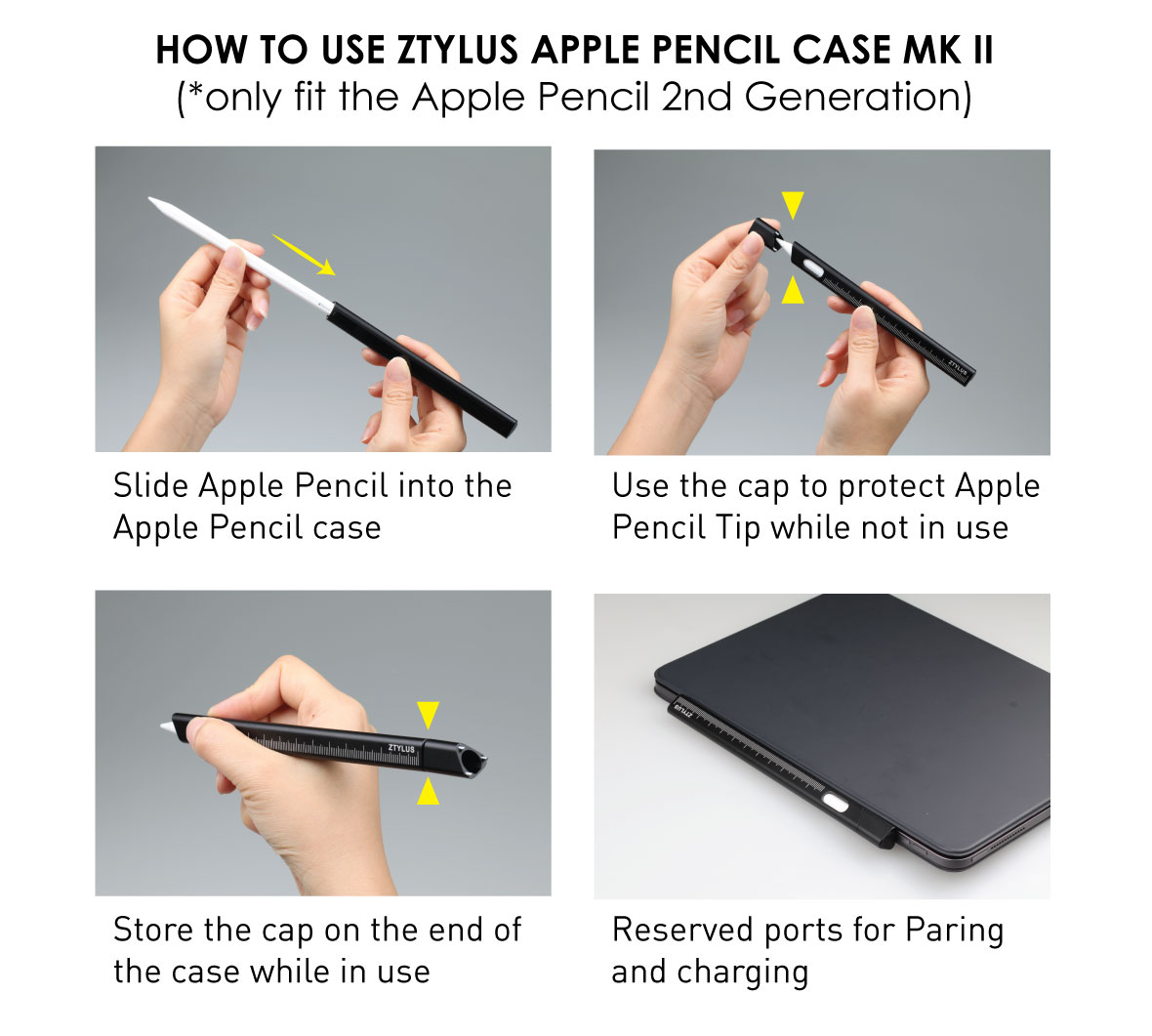 Ztylus Apple Pencil Case MK II for Apple Pencil 2nd Generation