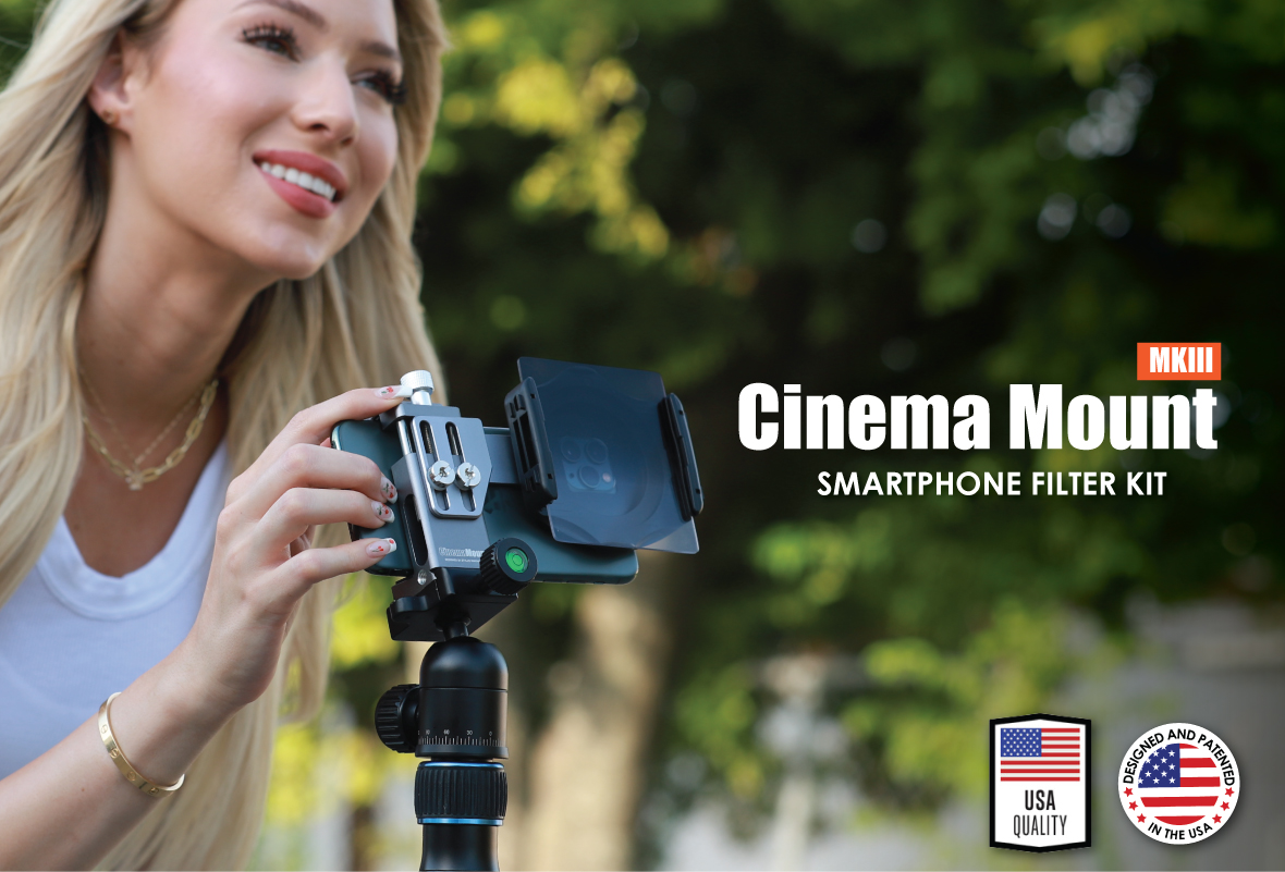 Cinema Mount Mini Smartphone Rig & Aluminum Alloy Grip Handle, Cell Phone Tripod Adapter, Standard Cold Shoe Mount and 1/4