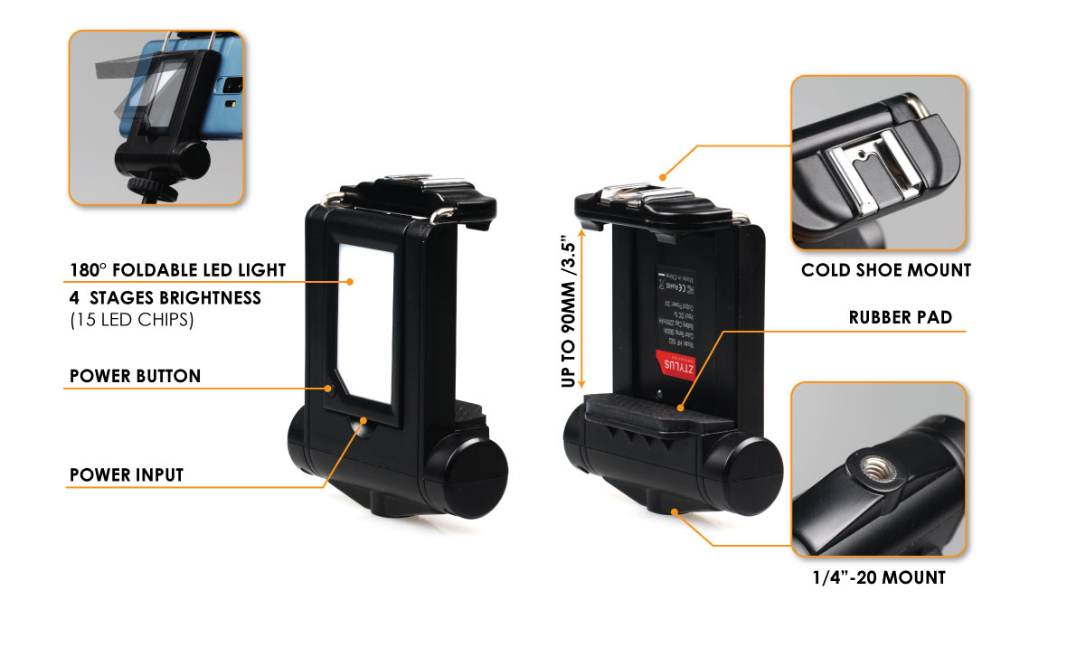 DIMMABLE LED TRIPOD MOUNT LIGHT
