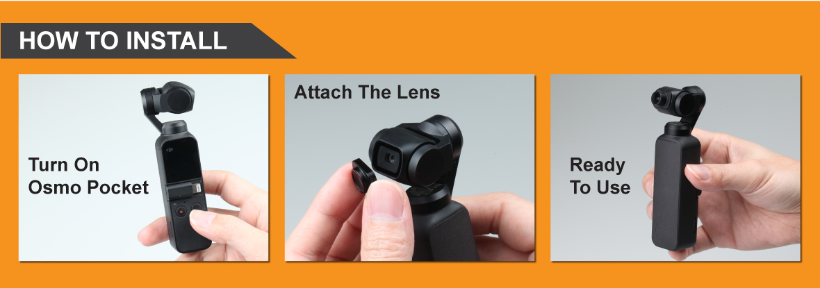 Ztylus Magnetic Add-On Lens Kit for DJI OSMO Pocket: 18mm Wide Angle Lens and Circular Fisheye Super Wide Angle Lens
