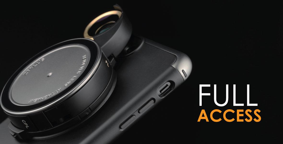 lowest price 9e959 02b0a Revolver Lens Camera Kit for iPhone 8 Plus / 7 Plus- Gunmetal Edition